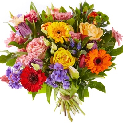 Bouquet bright spring flowers order now by local florist netherlands bouquet bright springflowers mightylinksfo