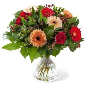 Warm comfort bouquet of flowers